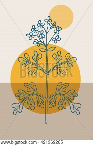 Common Rue, Abstract, Poster, Minimal Dd Ww
