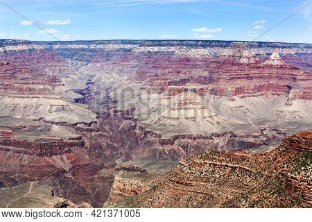 View across the South Rim of the Grand Canyon, Arizona, USA