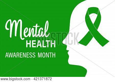 National Mental Health Awareness Month. Vector Web Banner For Social Networks, Poster, Map, Flyer. T