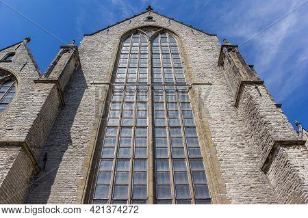 Window Of The Historic Sint Jan Church In Gouda, Netherlands