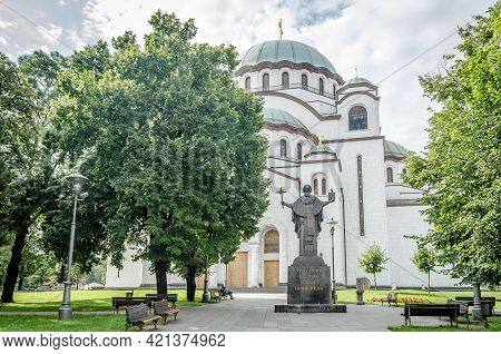 Belgrade, Serbia - July 29, 2014: Serbian Orthodox Church Of St. Sava In Belgrade