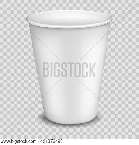 Disposable Paper Cup Or Mug For Coffee, Tea, Juice And Water, Ready To Design, Realistic Render Of D