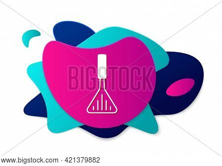 Color Barbecue Spatula Icon Isolated On White Background. Kitchen Spatula Icon. Bbq Spatula Sign. Ba