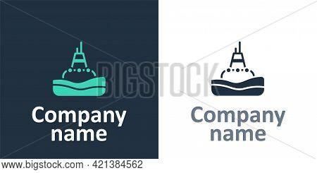 Logotype Floating Buoy On The Sea Icon Isolated On White Background. Logo Design Template Element. V