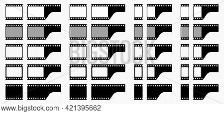 A Set Of Film Frames. One Frame For Creating Seamless Film And A Final Frame Element With The End Of