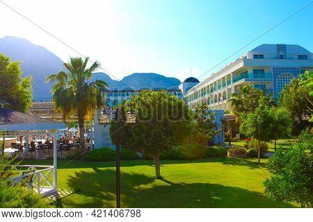 Goynuk, Antalya, Turkey - May 11, 2021: Turkey, Goynuk, Karmir Resort And Spa 5 Stars