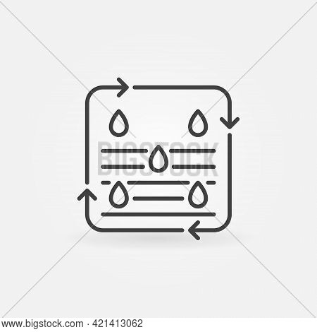 Water Purification Process Vector Concept Line Icon
