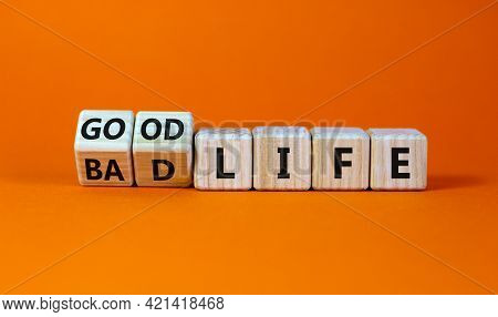 Good Life Concept For Fresh Start, New Year Resolution, Dieting And Healthy Lifestyle. Turned Wooden