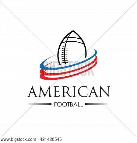 American Sport Football Logo Vector Illustration Design Template
