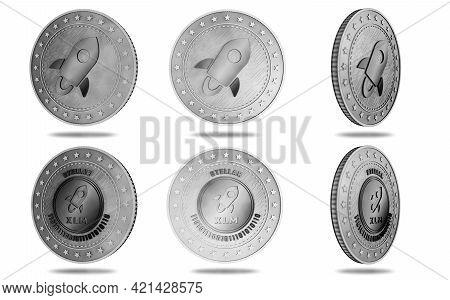 Stellar Xlm Cryptocurrency Symbol Golden Coin Illustration