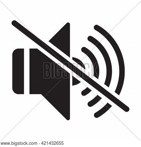 Silent Sound Off Flat Icon Vector For Your Web Design, Logo, Ui. Illustration