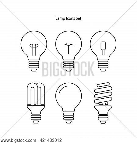 Lamp Icon Isolated On White Background. Lamp Icon Thin Line Outline Linear Lamp Symbol For Logo, Web