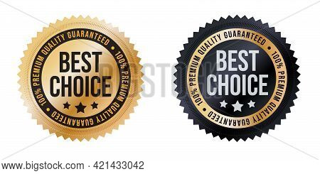 Best Choice Label, Premium Quality Guaranteed Sticker Set. Marketing Promotion Material For Exclusiv