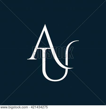 Au Or Ua Logo. Company Logo. Monogram Design. Letters A And U.