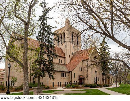 Historic Shove Memorial Chapel In Colorado Springs, Colorado