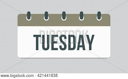 Template Icon Page Calendar, Day Of Week Tuesday