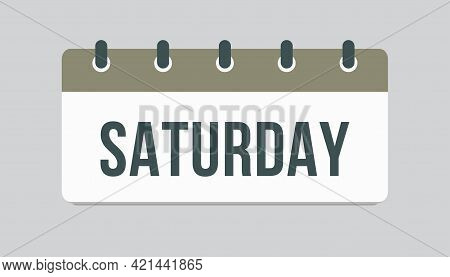 Template Icon Page Calendar, Day Of Week Saturday