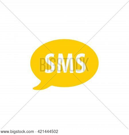 Sms Text Message Logo Glyph Style Vector Icon