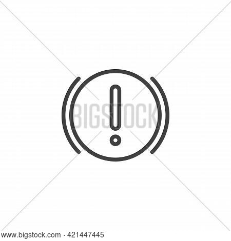 Brake System Alert Line Icon. Linear Style Sign For Mobile Concept And Web Design. Vehicle Brake Sys