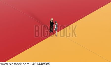 Business Opportunities in a Business People Meeting Copy Space 3d render