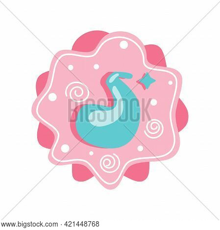 Cartoon Number 5 Isolated On Background For Childrens Holiday Design. Vector Illustration Of Number