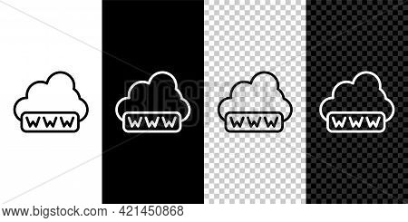 Set Line Software, Web Development, Programming Concept Icon Isolated On Black And White, Transparen