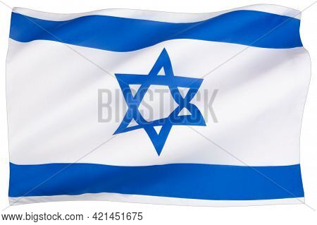 Official Flag Of Israel. Rightly Proportions And Colors