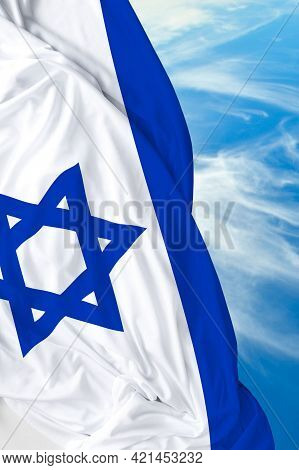 Official Flag Of Israel: Rightly Proportions And Colors