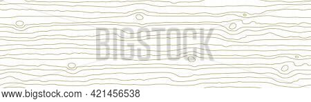 Seamless Wooden Pattern. Wood Grain Texture. Dense Lines. Abstract Striped Background. Vector Illust