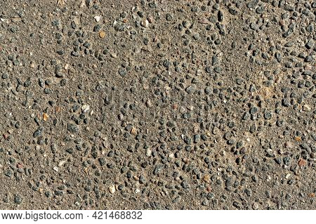 Background Rough Texture Concrete Wall Interspersed With Rubble Hard Uniform Light