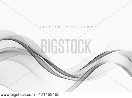 Grey Modern Abstract Line Layout Gradient Futuristic Smooth Swoosh Certificate Background. Vector Il