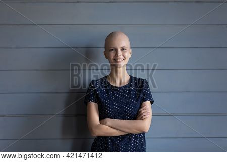 Portrait Of Happy Oncology Patient Wining Fight For Life