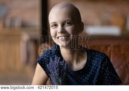 Happy Young Hairless Woman Getting Good Result Of Treatment
