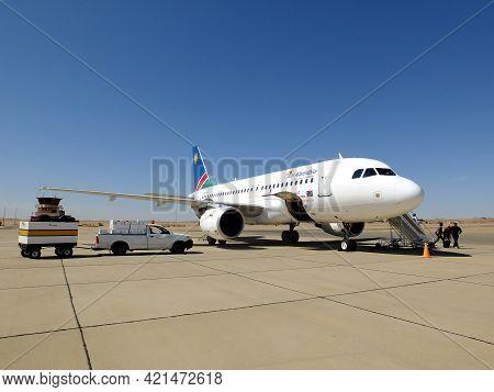 Walvis Bay, Namibia - 01 May 2012: The Airport Of Walvis Bay, Namibia