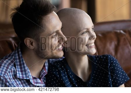 Happy Young Married Couple Going Through Oncology Disease