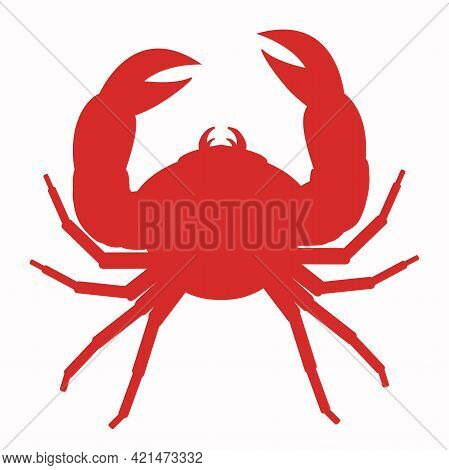 Vector Illustration Of Red Crab Icon Isolated