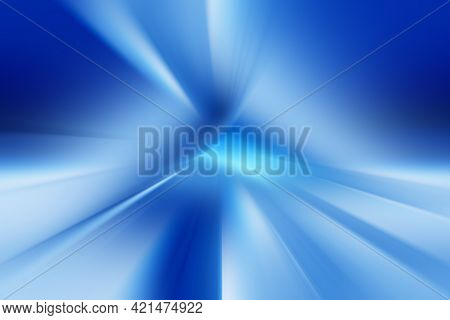 Abstract Radial Zoom Blur Surface Of  Dark Blue And Light Blue  Tones. Abstract  Soft Blue  Backgrou