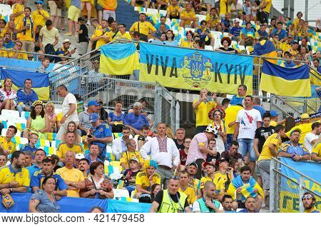 Marseille, France - June 21, 2016: Ukrainian Supporters Show Their Support During The Uefa Euro 2016