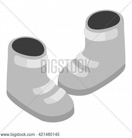Snowboard Boots Icon. Isometric Illustration Of Snowboard Boots Vector Icon For Web