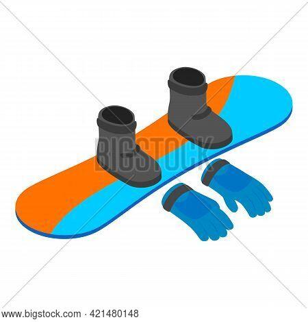 Snowboarding Equipment Icon. Isometric Illustration Of Snowboarding Equipment Vector Icon For Web
