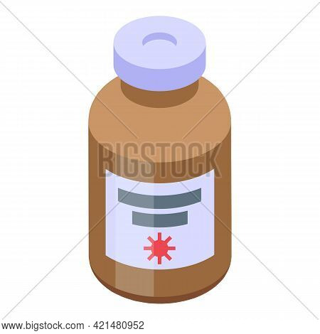 Syrup Antibiotic Resistance Icon. Isometric Of Syrup Antibiotic Resistance Vector Icon For Web Desig