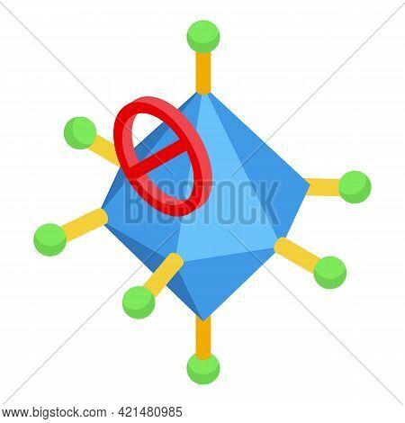 Molecule Antibiotic Resistance Icon. Isometric Of Molecule Antibiotic Resistance Vector Icon For Web