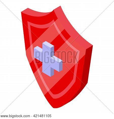 Shield Of Antibiotic Resistance Icon. Isometric Of Shield Of Antibiotic Resistance Vector Icon For W