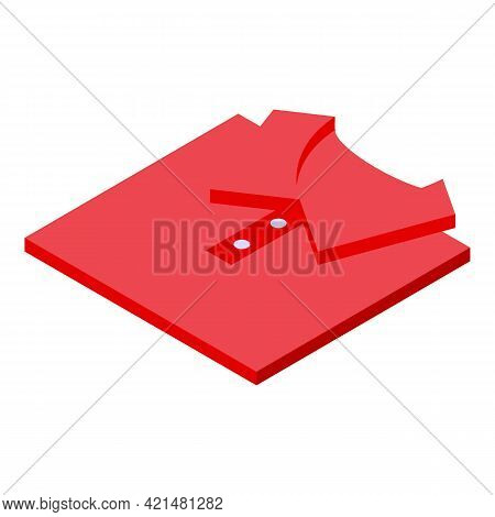 Polo Shirt Donation Icon. Isometric Of Polo Shirt Donation Vector Icon For Web Design Isolated On Wh