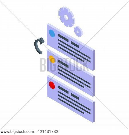 Task Schedule Message Icon. Isometric Of Task Schedule Message Vector Icon For Web Design Isolated O