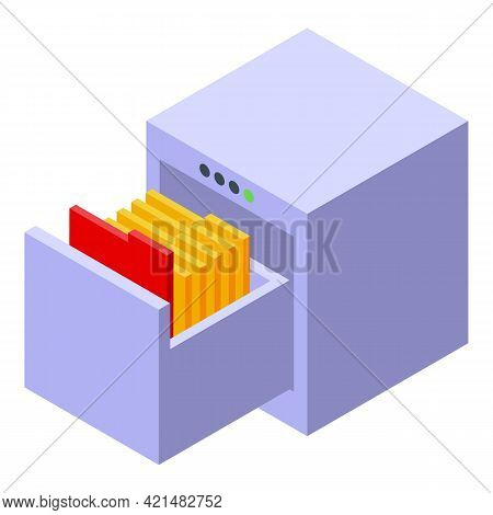 Safe Folders Backup Icon. Isometric Of Safe Folders Backup Vector Icon For Web Design Isolated On Wh