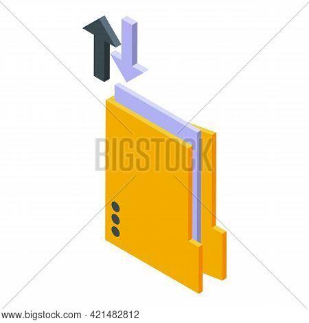Copy Folder Backup Icon. Isometric Of Copy Folder Backup Vector Icon For Web Design Isolated On Whit