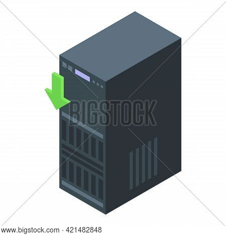 Office Server Backup Icon. Isometric Of Office Server Backup Vector Icon For Web Design Isolated On