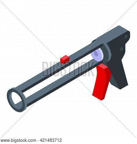 Silicone Caulk Tool Icon. Isometric Of Silicone Caulk Tool Vector Icon For Web Design Isolated On Wh