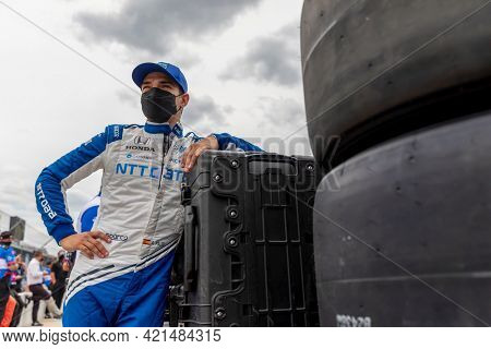 May 22, 2021 - Indianapolis, Indiana, USA: ALEX PALOU (10) of Barcelona, Spain prepares to qualify for the 105th Running Of The Indianapolis 500 at the Indianapolis Motor Speedway
